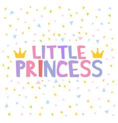 Little princess t-shirt design poster vector