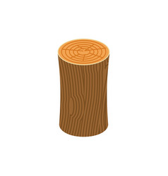 log isolated wooden billet on white background vector image