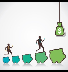 make more money concept vector image