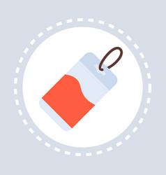 medical tag icon healthcare service logo vector image