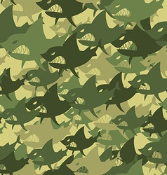 Military texture shark Soldiers protective vector