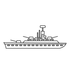 Military warship icon outline style vector