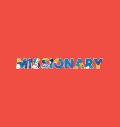 Missionary concept word art vector