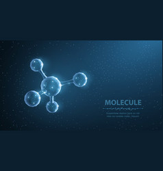 molecule abstract futuristic micro molecule vector image