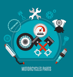 Motorcycles parts design concept vector