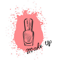 nail polish sketch vector image
