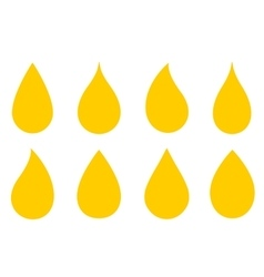 Oil drops set vector