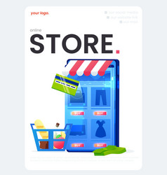online store flyer a great design for any vector image