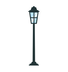 park street lamp light glass vintage decoration vector image
