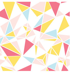 pink blue and yellow triangles abstract vector image