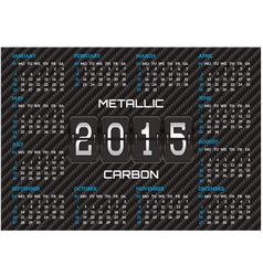 Pocket calendar template with carbon background vector
