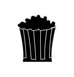 Pop corn food celebration party silhouette vector