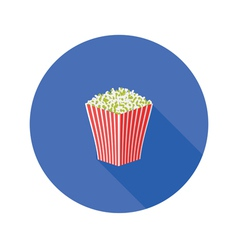 Popcorn flat icon vector
