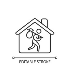 Refugee shelter linear icon vector