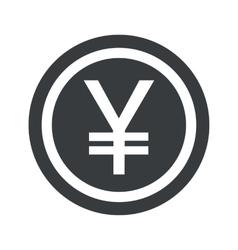 Round black yen sign vector image