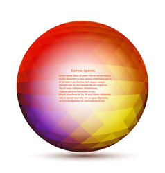 Round geometric pattern of hexagons vector