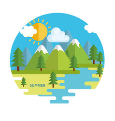 seasonal weather landscape icon vector image