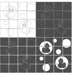 set backgrounds with rubber ducks vector image