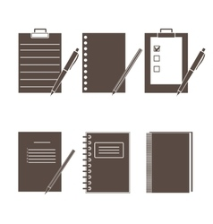 Set of icons of office supplies vector