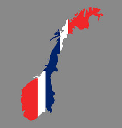 Silhouette country borders map of norway on vector