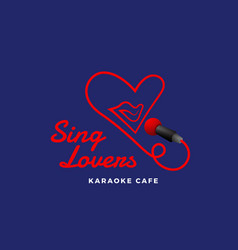 Sing lovers karaoke abstract sign emblem vector