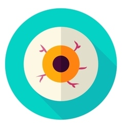 Spooky Eye Circle Icon vector