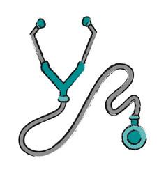 Stethoscope or phonendoscope icon image vector