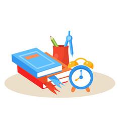 student desktop education design vector image