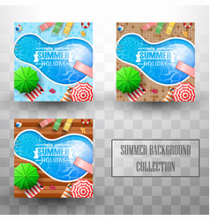 summer swimming pool top view background vector image