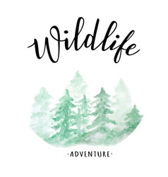 wildlife lettering vector image vector image