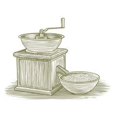 woodcut grinder vector image