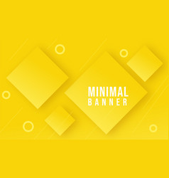 Yellow abstract geometrical background vector