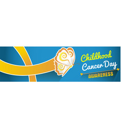 Banner on childhood cancer day vector