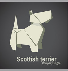 dog breed terrier origami vector image vector image