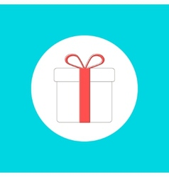 gift box icon in stroke-style vector image vector image