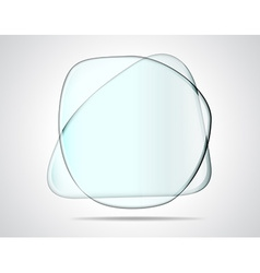 Intersecting glass plates vector image vector image