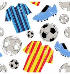 soccer pattern vector image vector image