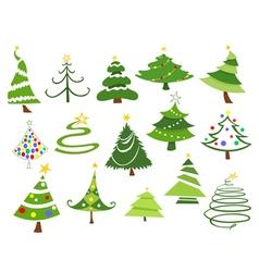 christmas trees vector image