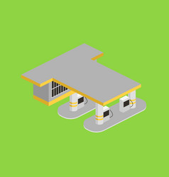 gas station isometric vector image vector image