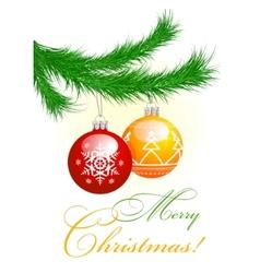 new year tree vector image