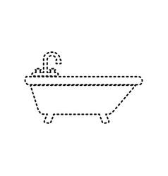 bathtub sign black dashed vector image vector image
