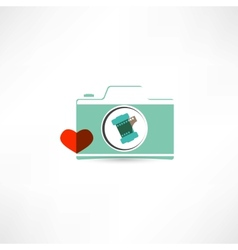 love photography icon vector image