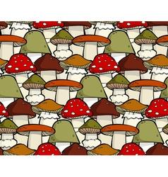 mushroom seamless vector image vector image