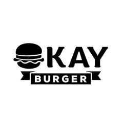 okay burger logo vector image vector image