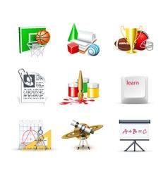 school icons 2 - bella series vector image