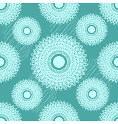 Seamless pattern with round ornament vector image