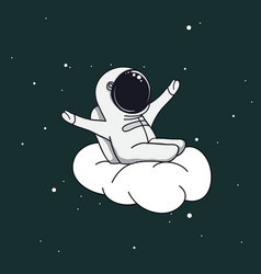 Spaceman on cloud vector