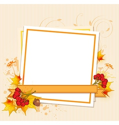 Autumn frame with berry vector image