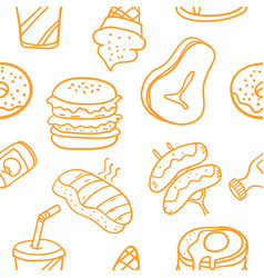 collection of food element art vector image vector image