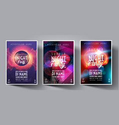 Dance club night summer party flyer brochure vector